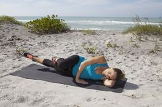 Need a move to help slim down your hips and thighs but can't do squats or lunges because of knee pain? Try this pilates inspired move Slim Hips, Tight Hips, Thinner Thighs, Tight Hip Flexors, Thigh Exercises, Leg Workouts, Fitness Exercises, Psoas Muscle, Leg Lifts