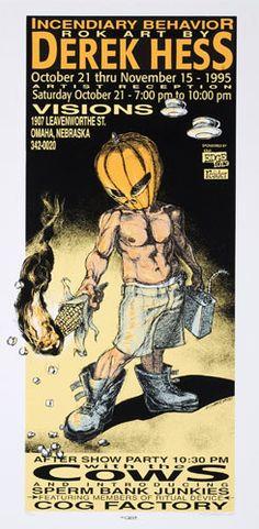 Derek Hess Derek Hess Incendiary Behavior Poster
