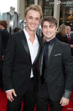 Tom Felton and Daniel Radcliffe - both so hot, it's hard to decide which one I want to marry more! :P haha ;) <3
