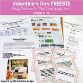 Valentine's Day FREE Emily Dickinson Handout