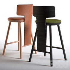 3d модели: Стулья - Arflex Pinna Bar Stool Chairs, Bar Stools, Sofa Furniture, Furniture Design, Woodworking, Modern, Stairs, Home Decor, Outdoor