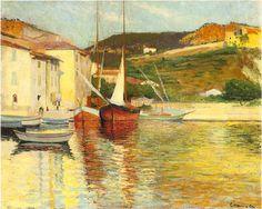Port de Cassis à la barque, v. 1901- Charles Camoin