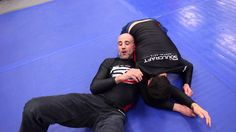 Soulcraft head instructor, Brad Wolfson, demonstrates an escape from side control into the d'arce choke.