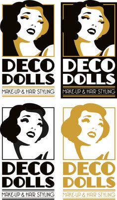 New Logo for Deco Dolls Make-Up and Hair Styling on Behance