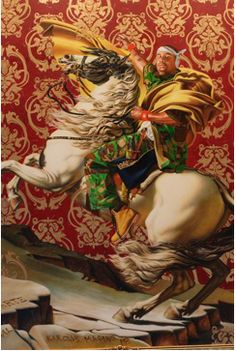 """Kehinde Wiley's """"Napoleon Leading the Army Over the Alps,"""" 2005. Visit the Brooklyn Museum."""