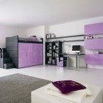 Loft bed with wardrobe beneath