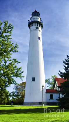 Wind Point Lighthouse Photograph