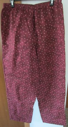 Starry Sky Burgundy Pajama / Lounge Wear by PizzelwaddelsApparel, $15.97