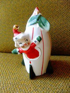 vintage Holt Howard Mrs. Claus in a rocket ship salt or pepper shaker Japan