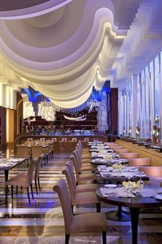 Buffet Restaurant, Restaurant Interiors, Restaurant Design, Fancy Restaurant  Interior, The Big Four, Italian Restaurants, Ceiling Design, Ceiling  Lighting, ...
