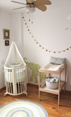 baby nursery - like cot and change table and decal