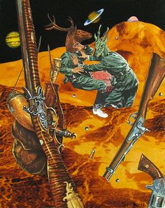 guns in space by collage-a-dada (analog collages by shawn marie hardy)