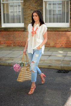 Spring is in the air #streetstyle #london #casual #blogger #fashion #style #denim