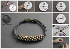 DIY Braided Bead Necklace or Bracelet