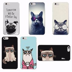 ac4d7f2505 Cute Funny Cat Soft Phone Case Cover For iPhone 7 7Plus 6 6S 6Plus 5 5S