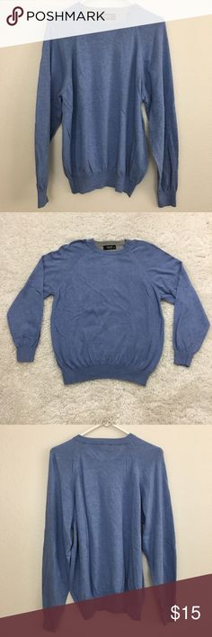 """Toscano Men's Classic Pullover Sweater, Blue, S Toscano men's pullover/sweater. Made in Italy.  Fabric is made of 60% cotton and 40% rayon. Hand wash.  Size Small Waist laid flat 22"""" Length 26"""" Approximate only.  Excellent condition.  No stains or holes. Freshly washed.  Stored in a smoke and pet free household.  Please see all pictures in details or ask any questions to avoid return.  Check out my store for other items on sale! Toscano Sweaters Crewneck"""