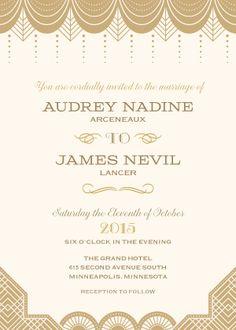 Wedding Invitations - Vintage Glamour