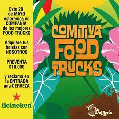 Este 29 de Mayo estaremos en uno de los sitios más exclusivos y hermosos del sur de Cali GARDEN LOUNGE haremos parte de la COMITIVA FOOD TRUCKS organizada por LULADA FEST donde pasarás  una tarde mágica llena de música amigos mascotas y lo mejor de la comida sobre ruedas de la ciudad.  Puedes adquirir tus entradas con nosotros @lawaffleria.co  Pre venta (hasta mayo 27) $10.000 día del evento $15.000. Reclama una cerveza Heineken en la entrada. Entrada libre para niños y mascotas hasta las…