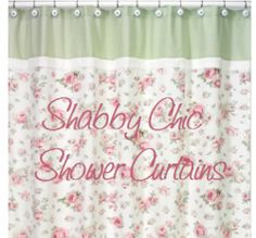 Lower Level Bath, Especially If I Do White Wainscoting.... Shabby Chic.  Shabby Chic Shower CurtainShower CurtainsVintage ...