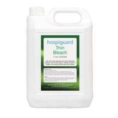 £9.99 - SALE PRICE - 2 x 5 Litre Thin Bleach Bottles - Bodyguards Thin Bleach. 2 x 5 Litre Bottles. Efficient Thin Bleach Disinfectant Thatl Kills All Known Germs. This Easy To Use Bleach Which Sanitises All Types Of Surfaces And Also Removes Most Tannin Stains From Crockery. PBS Medicare http://www.amazon.co.uk/dp/B0068QRN32/ref=cm_sw_r_pi_dp_Z2zGvb0KV2372