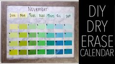 DIY Dry Erase Calendar using Paint Swatches YouTube Video Tutorial Step by Step Easy Simple Affordable