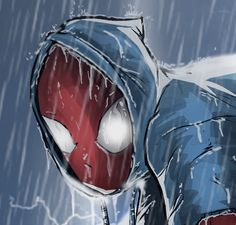 Scarlet Spider (JRJr. Hommage) Detail Shot by ~BouncieD on deviantART