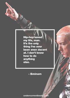 #eminem #quotes #slim #shady #quotes #rap #rapper #hiphop #hip #hop www.undercurrentbeats.com