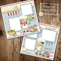 Something smells good-2 Premade Scrapbook Pages for printing or digital scrapbooking by AdrisCorner on Etsy Book Sites, Smell Good, Scrapbooks, Photo Book, Scrapbook Pages, Digital Scrapbooking, Custom Design, Corner, Printing