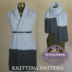 This listing is for the INSTANT DOWNLOAD KNITTING PATTERN of The Color Dipped Scarf by Bo Peeps Bonnets. This pattern is available for PERSONAL, noncommercial use ONLY. No unauthorized reproduction or distribution, in whole or part of this pattern is permitted. Items created or derived from this pattern are not permitted to be sold.  *All patterns written in standard US terms. * Size: Teen/Adult * Super Bulky Yarn  *There is no shipping charge for this item as it is a PDF file and will b...