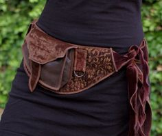 Golden Brown - Pocket Belt - Utility belt - Festival - Hip bag - Bohemian - Burlesque - Burning man - Renaissance