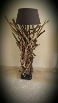 "Driftwood lamp ""Artesonia costa del sol "" España"