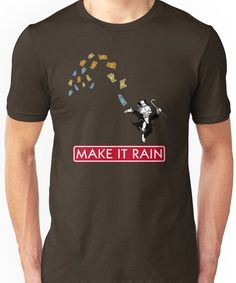 Make it Rain - Monopoly Unisex T-Shirt Monopoly Man, Make It Rain, Tshirt Colors, Wardrobe Staples, Female Models, Heather Grey, Classic T Shirts, Shirt Designs, Unisex