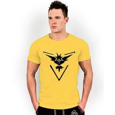 14a3f3aa Pokemon Go Mens T Shirt Slim Fit Crew Neck T-shirt Men Short Sleeve Shirt  Casual tshirt Tee Tops Team Mystic Mens Short Shirt