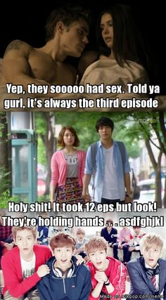 Difference between American dramas and K-dramas. Yep, pretty much. This is why I love K-dramas so much.