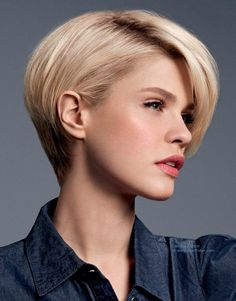 79 short bob hairstyles for the modern woman - Hairstyles Trends Short Layered Bob Haircuts, Latest Short Haircuts, Girls Short Haircuts, Short Girls, Black Girls, Black Women, 2015 Hairstyles, Short Hairstyles For Women, School Hairstyles