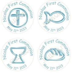 First Communion  cupcake toppers printable tags and by Chikoli, $6.00