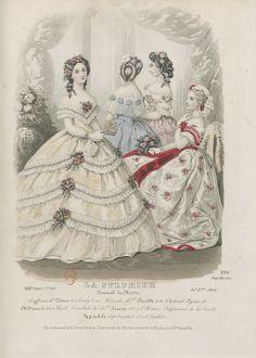 1861 - Gorgeous Bertha and hair on the white dress