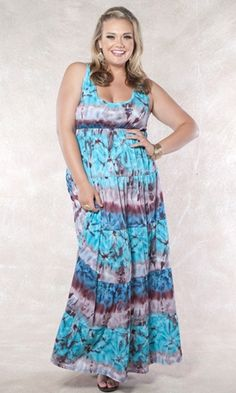 plus size tie dye maxi dress LOVE!