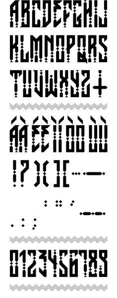 Una tipografía hecha en EXCEL