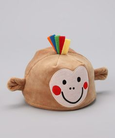 Take a look at this Tan Bobu Monkey Plush Beanie by Lazoo on #zulily today!