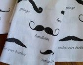 Mr. Moustache Tea Towel