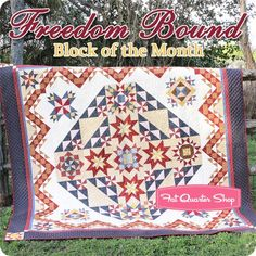 Freedom Bound Block of the Month Quilt Kit Nancy Gere for Windham Fabrics - Block of the Month Quilts Halloween Quilts, Halloween Fabric, Quilt Blocks, Quilt Kits, Cute Quilts, Sampler Quilts, Windham Fabrics, Block Of The Month, Fat Quarter Shop
