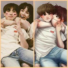 Pin di na su yoonkook ❤ nel 2019 bts, bts chibi e bts fans. Namjoon, Taehyung, Kookie Bts, Jungkook Fanart, Kpop Fanart, Bts Bangtan Boy, Foto Bts, Bts Photo, Bts Chibi