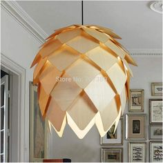 Decorative Environmental DIY/Assembled Type Natural Basswood Norm 69  Pineapple/Pinecone/Pinenut Pendant Light/Lamp,E27 Lampbase