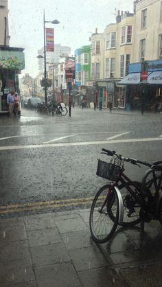 Pouring rain in not so sunny Brighton