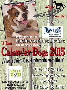 """Ankündigung """"Vive le Chien! Das Hundemodel vom Rhein"""""""