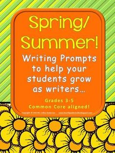 """By far one of the biggest """"difference makers"""" for me as a """"teacher of writers"""" has been my use of demand prompts to guide instruction. In our class, we have a balance of free writing, process writing, and demand writing—but for me, the most effective way to ASSESS students is to do a regular demand prompt to see how students are doing on the targets we have worked on all year. This resource has 6 spring and summer prompts complete with rubric and scoring advice!"""