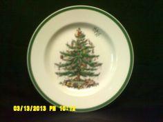 Spode Christmas Tree Dinner Plates 2 S3324- AO England Dinnerware Pattern #Spode
