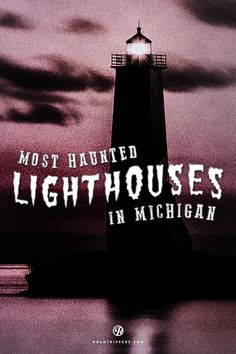 Katie Clark - Legend has it, these Michigan lighthouses are still being manned long after their keepers have passed on. Michigan Travel, State Of Michigan, Northern Michigan, Lake Michigan, Detroit Michigan, The Places Youll Go, Places To See, Places To Travel, Haunted Places