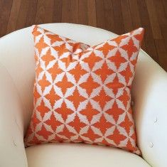 Global Views Solitaire Pillow-Tangerine